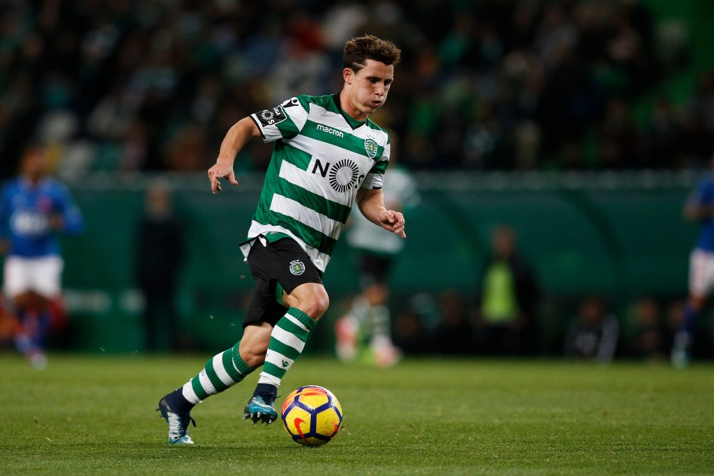 Daniel Podence playing for Sporting CP