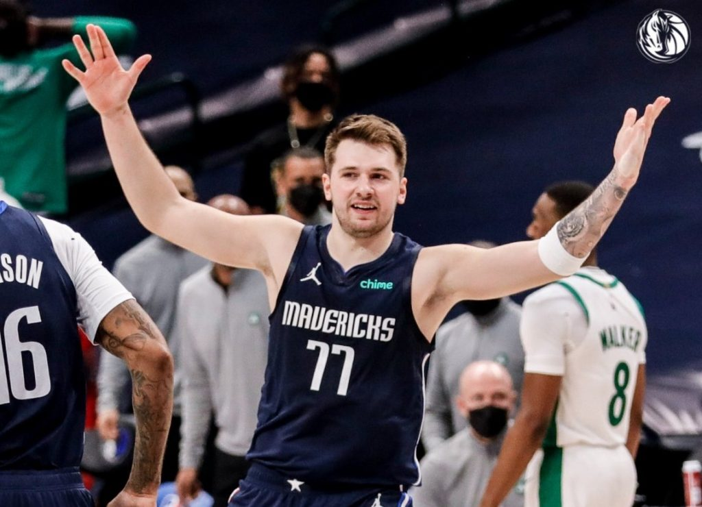Luka Doncic during a game against the Dallas Mavericks