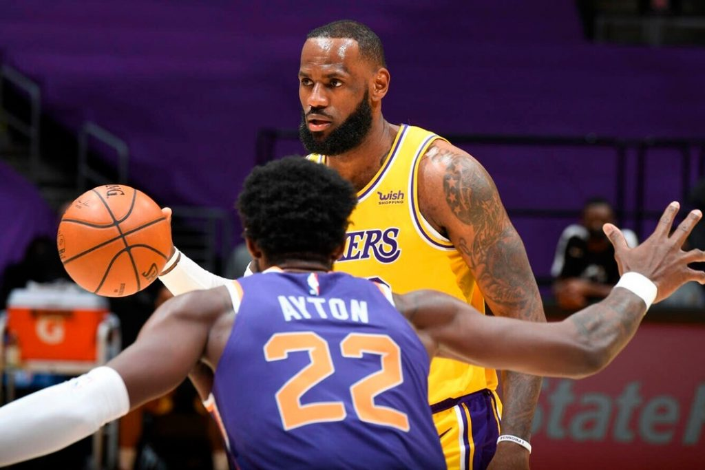 The Lakers will face the Suns after beating the Warriors in the Play-In
